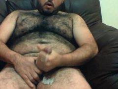 Gorgeous hairy vidz bear stroking