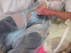 CUM FILLED vidz BLUE PANTIES