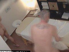 Secret Gay vidz Sex On  super Massage Table