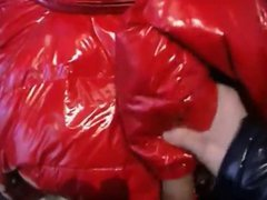 Red Moncler vidz cum!