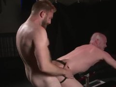 Barebacked in vidz leather boots