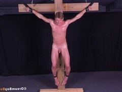 Hot Russian vidz Twink Crucifixion  super Gay Bondage BDSM Torture