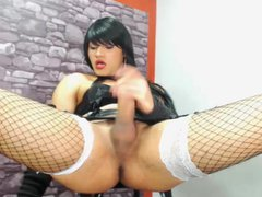 Shemale Masturbate vidz BigCock Webcam