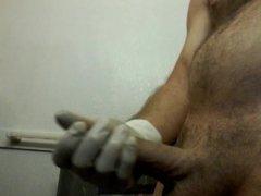 Masturbating with vidz Latex free  super gloves