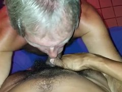 Silverdaddy wanted vidz to gag  super on my cock.