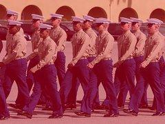Marine with vidz Tats