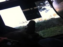 Public JO vidz Bus Stroking  super Black Cock 2