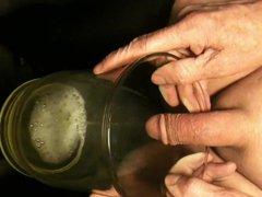 two litre vidz glass full