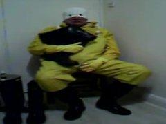 In yellow vidz rubber.