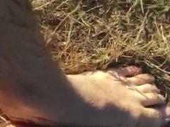 Rubbing my vidz feet in  super mud in public