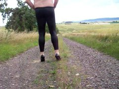 Leggins - vidz Heels and  super Nylon Socks