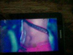 Cum tribute vidz on Kareena  super Kapoor navel