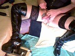 overknee-heels und vidz rosa nylons