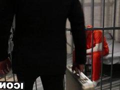 Mature bold vidz dude fucks  super sexy twink hard in a prison cell