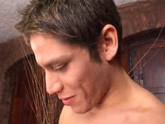 Bisexual threesome vidz with blonde  super and two latino hunks