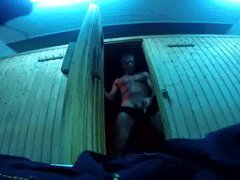 Str8 Daddy vidz Risky Gym  super Sauna Jerk Off & Cum