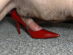 Red Patent vidz Leather Stilettos  super Hump and Cum