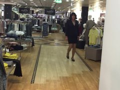 shopping, trying vidz some business  super skirt suit