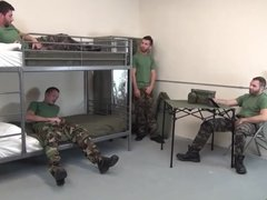 5 Military vidz Men Bareback  super Double Fuck In Barracks