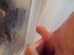 Cumming in vidz my hand  super with my big hard shaved young cock