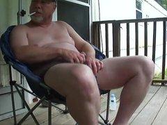 Verbal Redneck vidz Daddy Porch  super Jerk Off & Cum