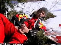 Masturbating hot vidz guy gay  super Roma Smokes In The Snow