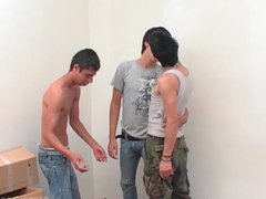 Latin Twink vidz Threesome Barebacking  super Sex