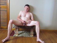 jerking off vidz on a  super stool