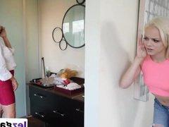 Blonde lesbians vidz Alexis and  super Elsa Massage