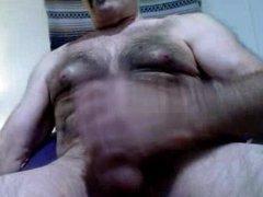 Hairy daddy vidz bear shooting  super tons of cum