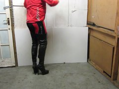 Tall leather vidz lace up  super and zipper thigh boots