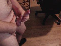 moanings, foreskin vidz and a  super big cumshot