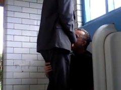 suit guy vidz gets men's  super room blowjob