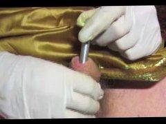 shemale transvestite vidz in indian  super satin sounding urethral dildo