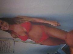 With my vidz red bikini