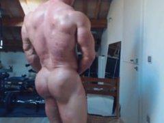 James Muscle vidz Webcam Ass  super Show