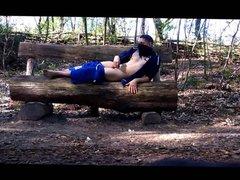 naked on vidz a bench