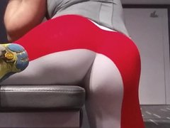 Red cotton vidz tights at  super the gym