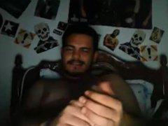 Sexy dude vidz cumming in  super condom