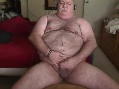 Hairy Old vidz Bear jerk  super off