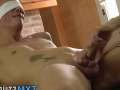 Blindfolded and vidz roped down  super twink gets best wank of his life