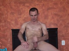 Iron sets vidz up a  super camera to records him while he is jacking off