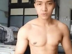 Hot Muscular vidz Big Dick  super Asian Guy Cums in Chest