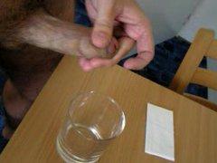 Cumshot to vidz glass