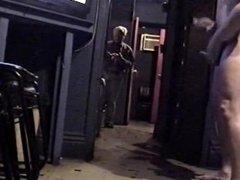 VIDEO THEATRE vidz JERK IN  super FRONT OF WORKER