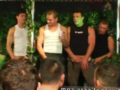 Group of vidz males examining  super extreme nude cock movies gay Dozens of boys go