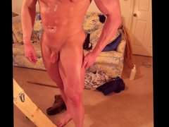 Hunk oiled vidz up and  super massaged flexing