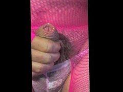 shemale transvestite vidz pantyhose nylon  super sounding urethral toy
