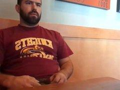 Wanking and vidz Cumming at  super a Cafe