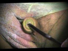 ladyboy tranny vidz of sounding  super urethral cock and pantyhose nylon